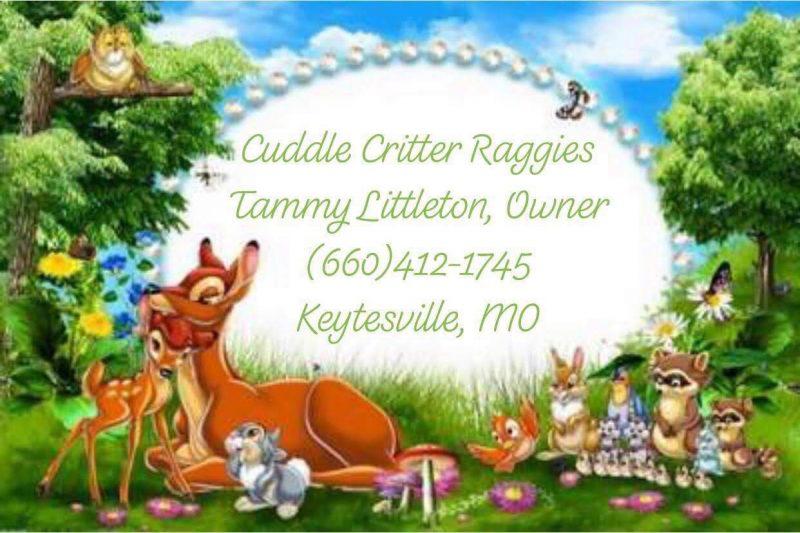 Cuddle Critter Raggies